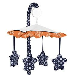 Sweet Jojo Designs Arrow Musical MobileFabric in Blue/Orange, Size 25.0 H x 19.0 W x 11.0 D in | Wayfair Mobile-Arrow-OR-NV