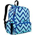 Wildkin 17 Inch Kids Backpack for Boys & Girls, Features Three Zippered Compartment with Interior & Side Pockets Backpacks, Perfect for School & Travel Backpack for Kids, BPA-free (Chevron Blue)
