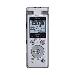 OM Digital Solutions Voice Recorder DM-720 with 4GB, Micro SD Slot, USB Charging, Direction PC Connection, Transcription Mode, Silver