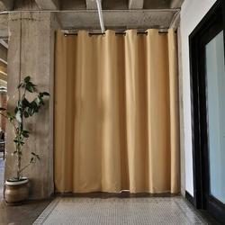 RoomDividersNow Premium Heavyweight Tension Rod Hangning Room Divider in Brown, Size 96.0 H x 114.0 W in   Wayfair PBKLDG8-TR