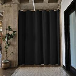 RoomDividersNow Premium Heavyweight Tension Rod Hangning Room Divider in Black, Size 96.0 H x 48.0 W in | Wayfair PBKSMB8-TR