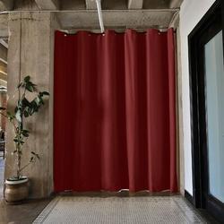 RoomDividersNow Premium Heavyweight Tension Rod Hangning Room Divider in Red, Size 108.0 H x 114.0 W in | Wayfair PBKLSR9-TR