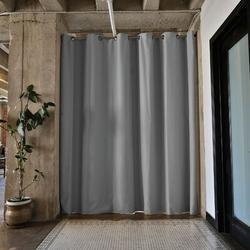 RoomDividersNow Premium Heavyweight Tension Rod Hangning Room Divider in Gray/Black, Size 108.0 H x 48.0 W in | Wayfair PBKSSG9-TR