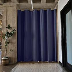 RoomDividersNow Premium Heavyweight Tension Rod Hangning Room Divider in Blue, Size 108.0 H x 114.0 W in | Wayfair PBKLHB9-TR