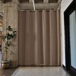 RoomDividersNow Premium Heavyweight Tension Rod Hangning Room Divider in Black/Brown, Size 108.0 H x 48.0 W in | Wayfair PBKSM9-TR