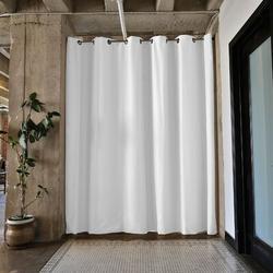 RoomDividersNow Premium Heavyweight Tension Rod Hangning Room Divider in Gray, Size 108.0 H x 48.0 W in   Wayfair PBKSNW9-TR