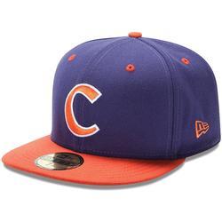 """New Era Clemson Tigers 59FIFTY Basic Fitted Hat - Purple/Orange"""
