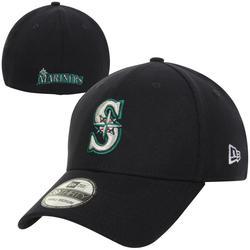 """Men's New Era Navy Seattle Mariners MLB Team Classic Game 39THIRTY Flex Hat"""