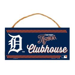 """""""WinCraft Detroit Tigers 5"""""""" x 10"""""""" Rope Wood Sign"""""""