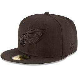 """Men's New Era Philadelphia Eagles Black on 59FIFTY Fitted Hat"""