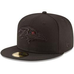"""""""Men's New Era Baltimore Ravens Black on 59FIFTY Fitted Hat"""""""