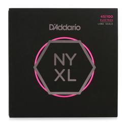 D'Addario NYXL45100 Regular Light Long Scale Nickel Wound Bass Strings - .045-.100
