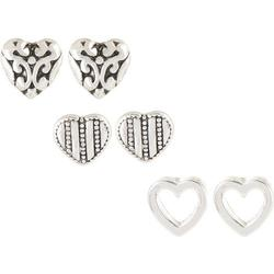 Bay Studio 3-pc. Antique Style Heart Earring Set