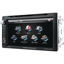 "Power Acoustik PD‐651B 6.5"" Double-DIN In-Dash LCD Touchscreen DVD Receiver (With Bluetooth)"