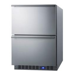 """Summit FF642D 23 5/8"""" W Undercounter Refrigerator w/ (1) Section & (2) Drawers, 115v"""