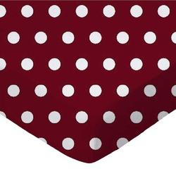 Sheetworld Polka Dots Toddler Fitted Crib SheetCotton in Red, Size 28.0 W x 52.0 D in   Wayfair C-W913