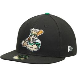 """""""Men's New Era Black Clinton LumberKings Authentic 59FIFTY Fitted Hat"""""""