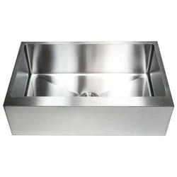 "eModern Decor CozyBlock Stainless Steel 33"" L x 21"" W Farmhouse/Apron Kitchen Sink w/ Accessories Stainless Steel in Gray   Wayfair HFS3321B-1"