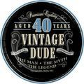 Creative Converting Vintage Dude 40th Birthday Dessert PlatesPaper in Black/Gray   Wayfair 414067