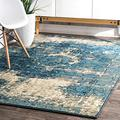 "nuLOOM Vintage Lindsy Distressed Area Rug, 5' 11"" x 9', Blue"