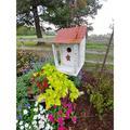 Home Bazaar Bird in Hand Bird Shack 13 in x 7 in x 7 in Birdhouse Wood in Brown/Red/White, Size 12.75 H x 7.0 W x 7.0 D in | Wayfair HBA-1009S