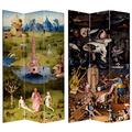 Oriental Furniture Double Sided Garden of Delights Canvas Room Divider - 7 ft. Tall