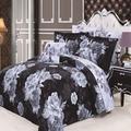 North Home Oakwood 4 Piece Reversible Duvet Cover SetCotton/100% Cotton in Black, Size King | Wayfair OAKWOOD0DCKG