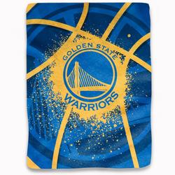 """Northwest Company Golden State Warriors Shadow Play Raschel Plush Blanket"""