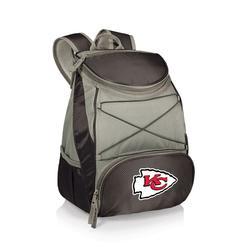 """Black Kansas City Chiefs PTX Backpack Cooler"""