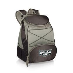 """Black Philadelphia Eagles PTX Backpack Cooler"""