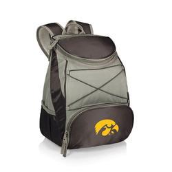 """Black Iowa Hawkeyes PTX Backpack Cooler"""