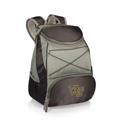 """Black Wake Forest Demon Deacons PTX Backpack Cooler"""