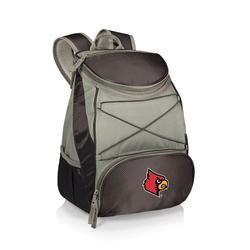 """Black Louisville Cardinals PTX Backpack Cooler"""