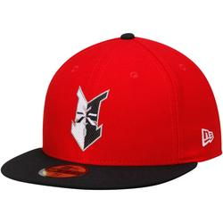 """""""Men's New Era Red/Black Indianapolis Indians Authentic Home 59FIFTY Fitted Hat"""""""