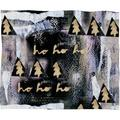 The Holiday Aisle® Karling A White Christmas Plush Throw Metal in Black/White, Size 40.0 H x 30.0 W in | Wayfair BRSD9176 29856425