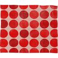 Latitude Run® Kenlyn Colorplay Plush Fleece Throw Blanket Polyester/Fleece & Microfiber in Red/White, Size 80.0 H x 60.0 W in | Wayfair