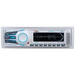 BOSS Audio Systems MR1308UAB Marine Receiver - Weatherproof, Bluetooth Audio, USB, SD, MP3, AM/FM, Aux-in, No CD Player, White, 8.50in. x 8.50in. x 4.00in.