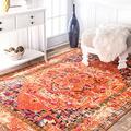 """nuLOOM Mackenzie Vintage Area Rug, 7' 10"""" x 11', Orange"""