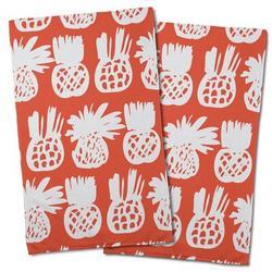 Island Girl Home Garden Pineapple Field Hand Towel Microfiber/Terry/Cotton in Green/White | Wayfair IGH-KT63