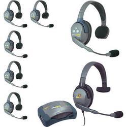 Eartec HUB7SMXS UltraLITE 7-Person HUB Intercom System with Max 4G Single Headset HUB7SMXS