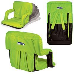 Neon Green Seattle Seahawks Ventura Seat Portable Recliner Chair