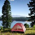 wakeman Happy Camper 2 Person Tent w/ Carry Bag Aluminum in Red, Size 42.0 H x 58.0 W x 75.0 D in   Wayfair M470009