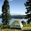 wakeman Happy Camper 2 Person Tent w/ Carry Bag Aluminum in Green, Size 42.0 H x 58.0 W x 75.0 D in   Wayfair M470010
