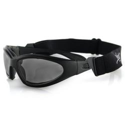 Bobster GXR Sport Sunglasses,Black Frame/Smoked Lens,one size