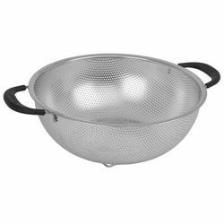 Oneida Stainless Steel Colander Stainless Steel/Metal in Gray, Size 4.2 H x 13.0 W x 10.0 D in   Wayfair 57150