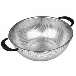 Oneida Stainless Steel Colander Stainless Steel/Metal in Gray, Size 4.6 H x 14.4 W x 11.2 D in   Wayfair 57151
