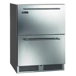 Perlick C-Series 5.2 cu. ft. Outdoor Rated Undercounter Mini Fridge Stainless Steel in Gray, Size 34.25 H x 23.88 W x 24.0 D in   Wayfair