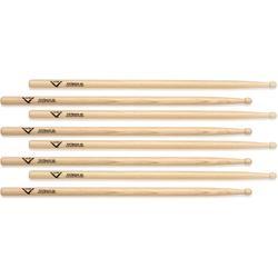 Vater Hickory Drumsticks 4-pack - Fatback 3A - Wood Tip