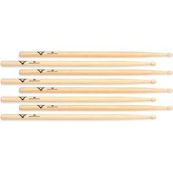Vater Hickory Drumsticks 4-pack - 5B - Wood Tip