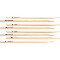 Vater Hickory Drumsticks 4-pack - Los Angeles 5A - Wood Tip